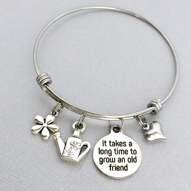 Friend Birthday Gift It Takes A Long Time To Grow An Old Bracelet Longtime