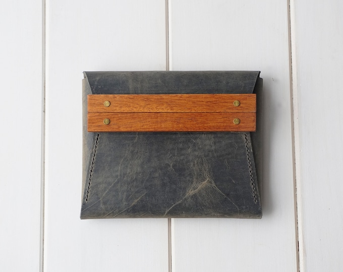 Featured listing image: The Mini Jane Clutch in Old Town Sage & Mahogany