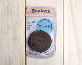Eco Jar Classic Silicone Drinking Jar Lid >> Wide Mouth
