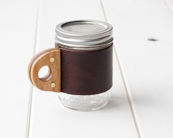 The Sprig Mug Sleeve in Autumn Harvest & Hickory Hardwood