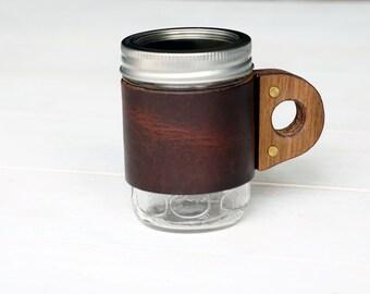The Sprig Mug Sleeve in Autumn Harvest & Walnut