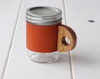 The Sprig Mug Sleeve in Horizon & Hickory Hardwood