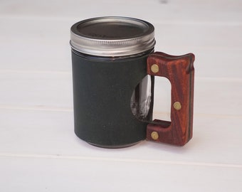The Woods Mug in Winter Green & Rosewood Hardwood