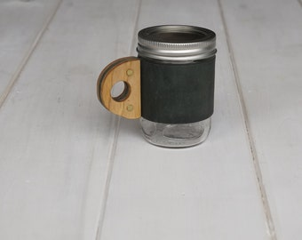 The Woods Mug Sleeve in Winter Green & Hickory
