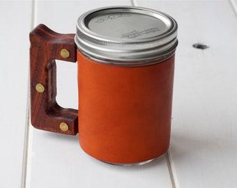 The Woods Mug Sleeve in Horizon & Rosewood Hardwood