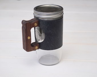 The Woods Mug Sleeve in Old Town Sage & Walnut Hardwood