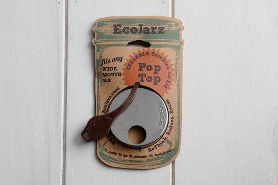 EcoJarz Wide Mouth Pop-Top Drinking Lid