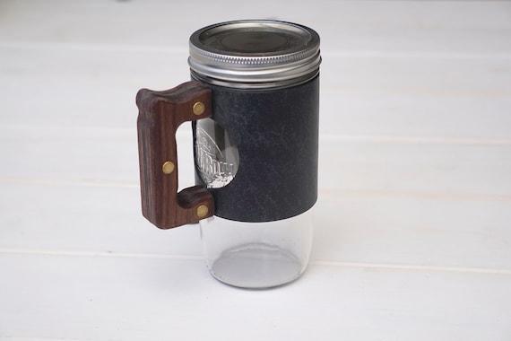 The Woods Mug Sleeve in Old Town Sage & Walnut Hardwood