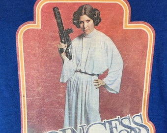 1977 STAR WARS Vintage T-SHIRT Princess Leia Kids Sz M - L Iron-On Carrie Fisher