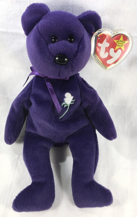 Ty Beanie Baby ~ PRINCESS the Bear from 1997 ~ RARE /& RETIRED ~ MINT Diana