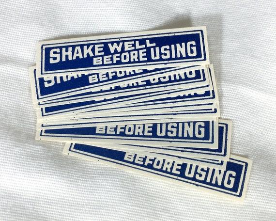12 Old Antique Vintage Label SHAKE WELL Before USING Medicine