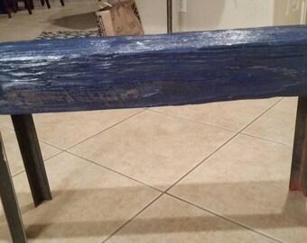 Custom upcycled bench/ island water