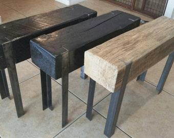 Custom Wood Beam Bench