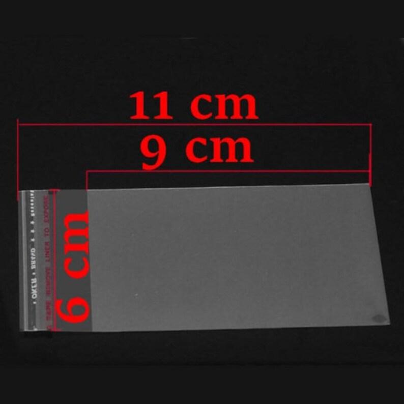 11/x 8/cm 200/sachets dautocollants en plastique