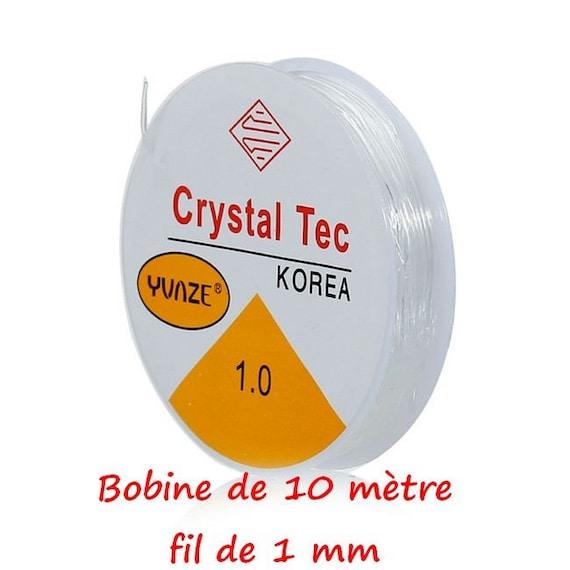 FIL ÉLASTIQUE TRANSPARENT CRISTAL 0,4mm 16M BOBINE