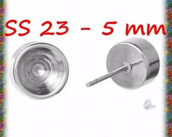 10 Stud Earrings in stainless steel for ss23 rhinestones