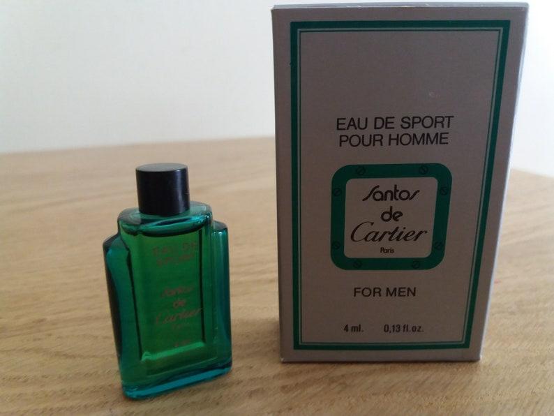 Oz 1989 Cartier Mens Collection Eau 4 Ml Santos Bouteille De Homme Miniature Parfum Mini Rare Sport Full Mignon 13 vNm08wn