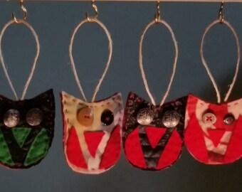 Owl Felt Ornaments