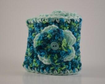 Chelsie Handmade Crocheted Headband Earwarmer with Flower