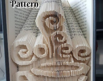 Folded Book Pattern for Coffee Is My Love Language Cut and Fold Book Folding Coffee