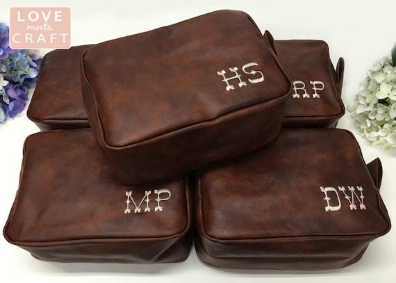 4 Personalized Men s Shaving Kit Men s Toiletry Bag   Etsy b174189063