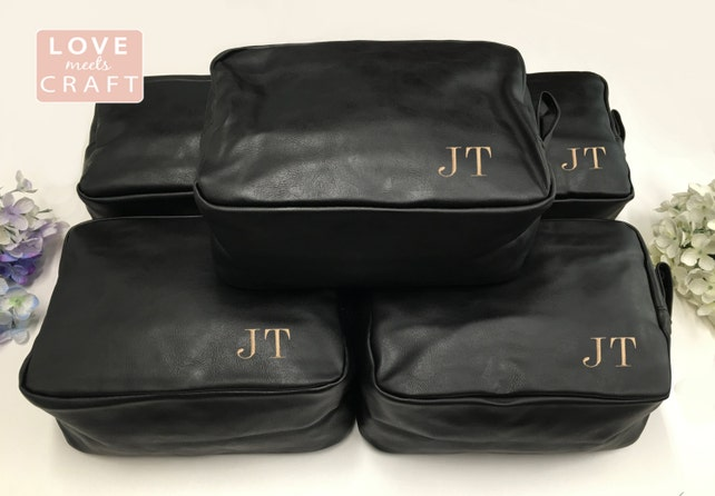 7 Personalized Groomsman Gift Men s Shaving Kit Toiletry Bag Dopp Kit  Monogrammed Travel Bag Wedding Gift ... a657feaafea97