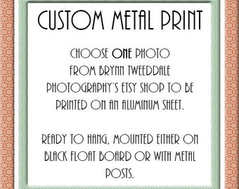 Custom Metal Print of Any of My Photos - Mounted Wall Art - Modern Home Decor