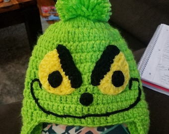 crochet grinch inspired hat 77b57f6604d