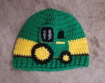 crochet john deere inspired hat ef8f2675ad94