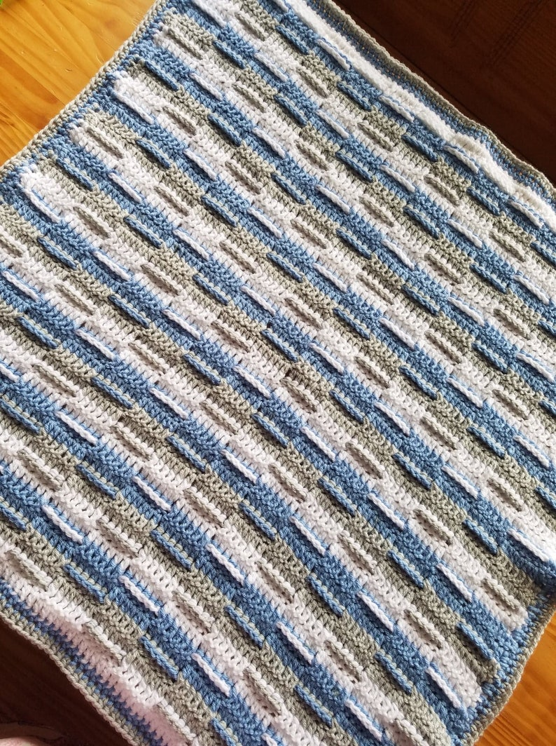 Crochet Baby Blanket Crochet Boy Blanket Baby Boy Blanket Etsy