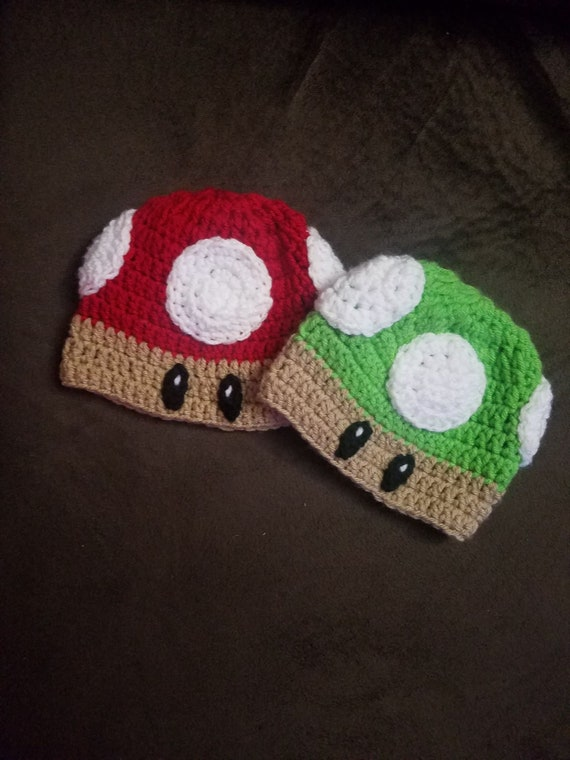Crochet Super Mario Inspired Mushroom Hat Mario Hat Crochet Etsy