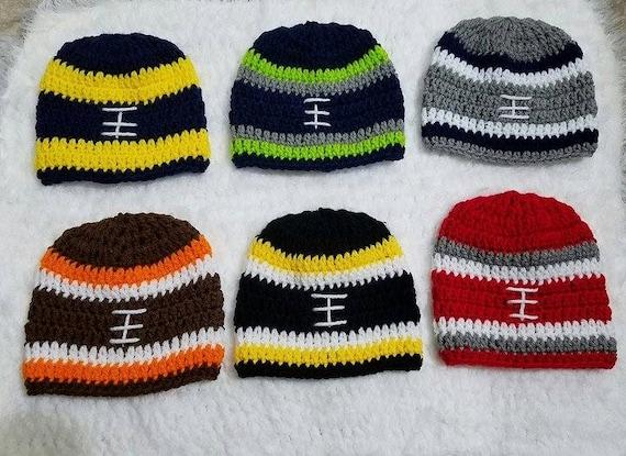 1e0f2d3d5 Crochet football hat football hat ohio state hat steelers