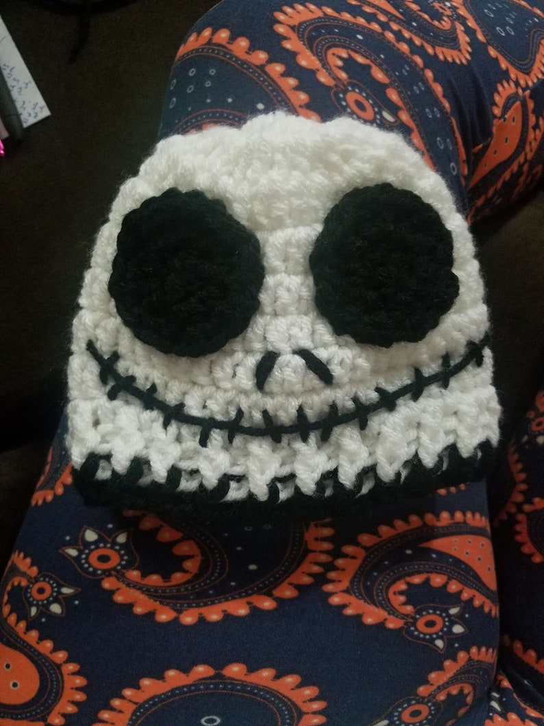 896e58779313a Crochet Jack Skellington hat inspired from Nightmare Before
