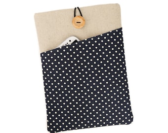 Kindle cover, Paperwhite case, Kindle Voyage, Kobo case, Kindle Touch, Oasis case, Kobo Aura HD, Kindle Fire, Kobo Glo HD, Navy Polka Dot