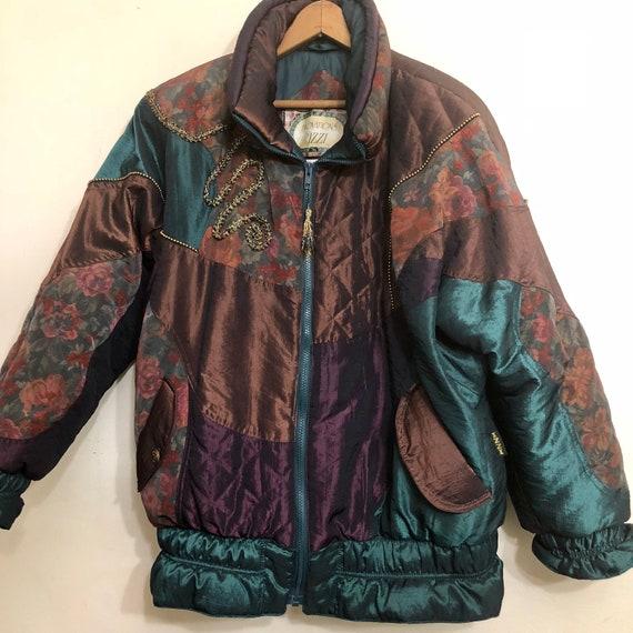 Vintage 80s Puffer Jacket Coat Winter Eighties