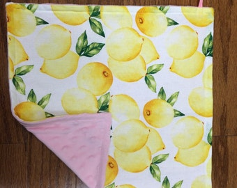 Pink Lemonade Pacifier Blanket
