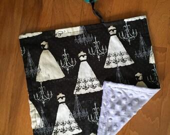 Fancy Dresses & Chandeliers Lavender Pacifier Blanket