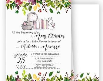 storybook invitation etsy