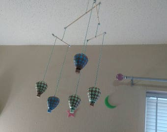 Paper Weaving hot air balloon mobile