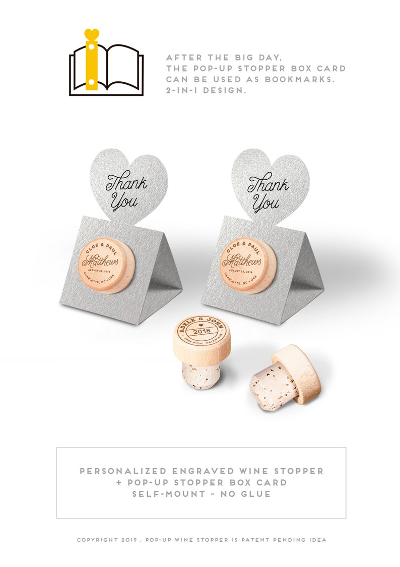 Personalized Wedding Favors Wine Cork Stopper  Winery Wedding image 0