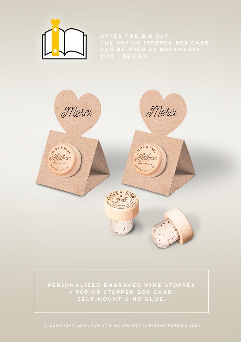 Cadeaux invites mariage Favors  Personalized Wine Cork image 0