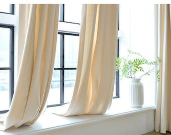 Pair Of White Velvet Curtains Bedroom Living Room Off