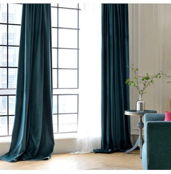 Paar Pfau blau samt Vorhänge, Schlafzimmer samt Vorhänge, Wohnzimmer samt  Vorhänge, benutzerdefinierte Vorhänge