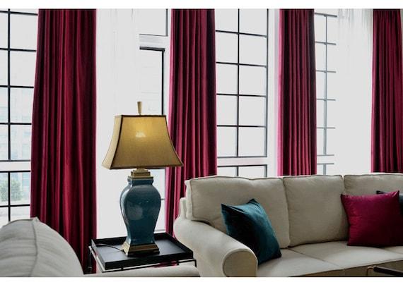 Paar Burgund Rouge samt Vorhänge, Schlafzimmer samt Vorhänge, Wohnzimmer  samt Vorhänge, benutzerdefinierte Vorhänge