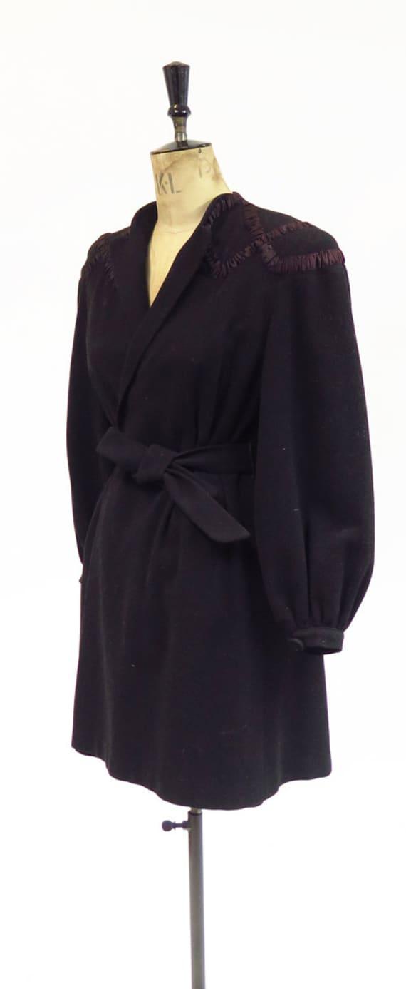 Original Vintage 1930s 1940s Black Tailored Fitte… - image 2