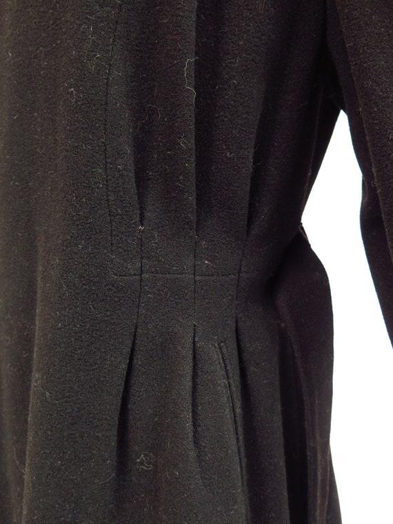 Original Vintage 1930s 1940s Black Tailored Fitte… - image 10