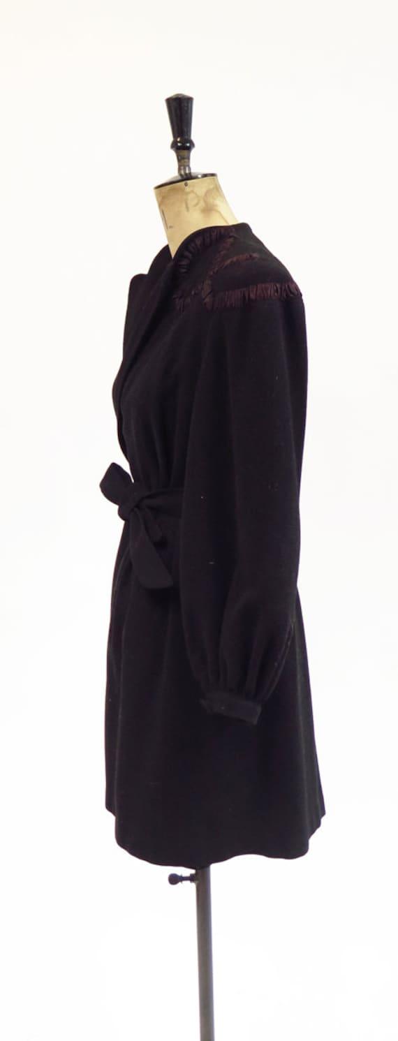 Original Vintage 1930s 1940s Black Tailored Fitte… - image 3