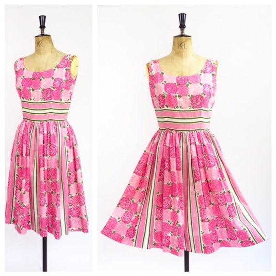 1950s Novelty Print Dress