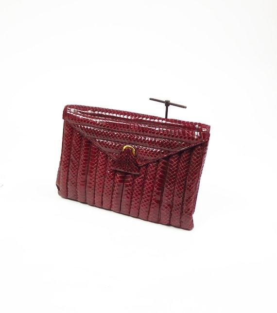 Original Vintage 1930-40s Made In France Burgundy