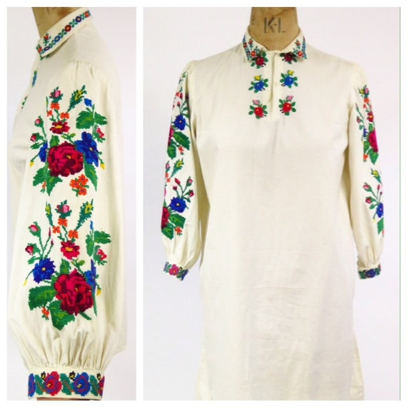 Original Vintage 1930s Antique Handmade Embroidere